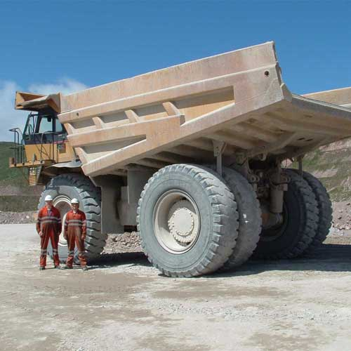 Sensor Vision on huge quarry machinery