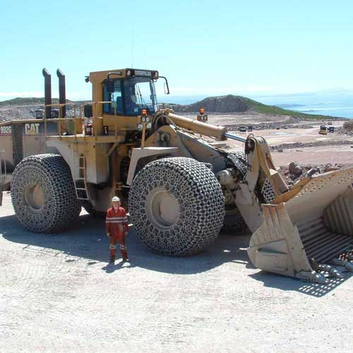 Sensor Vision on very large quarry machinery